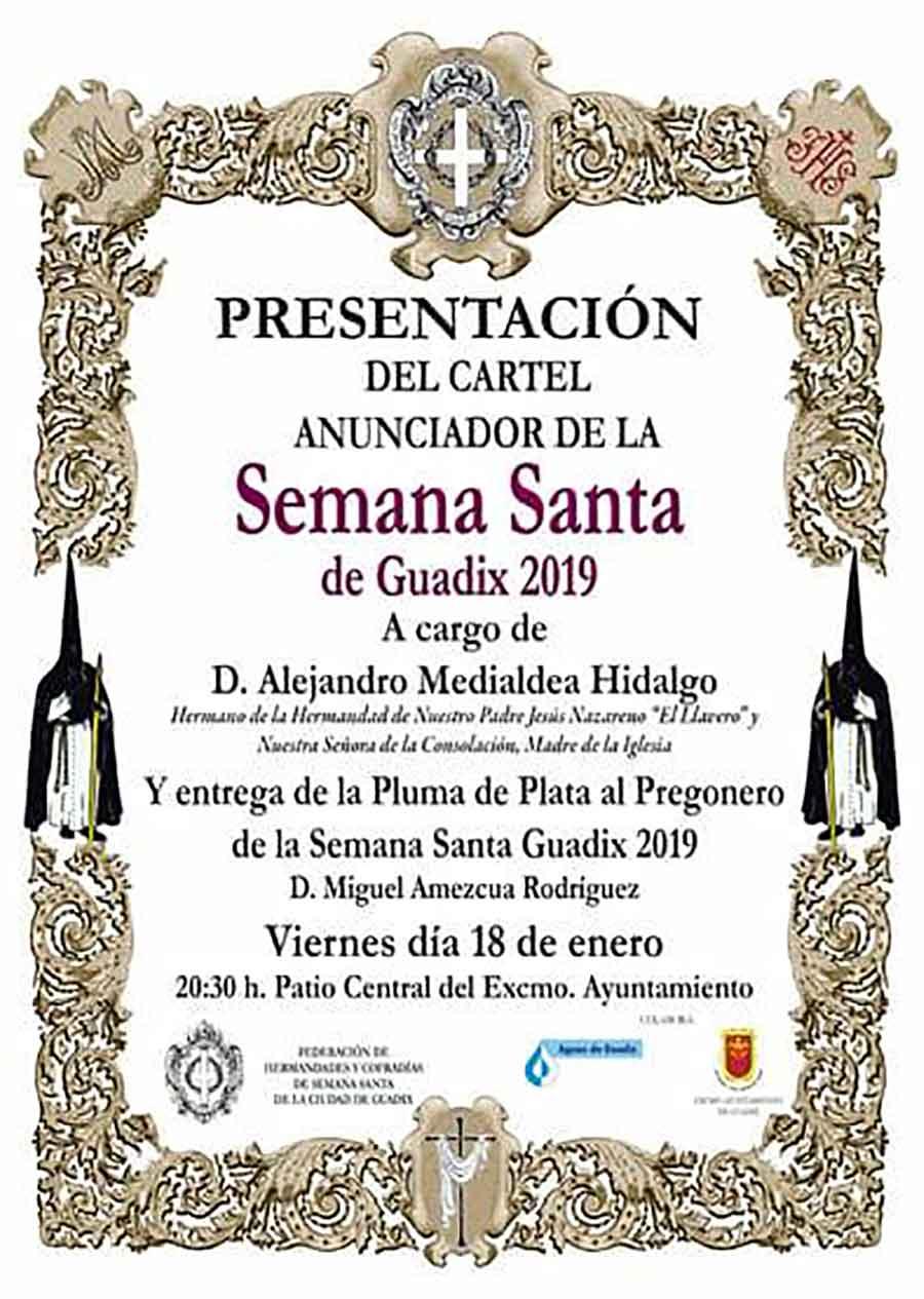 Presentación Cartel Semana Santa Guadix 2019
