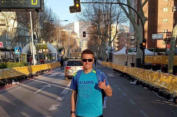 José Puertas en la media maratón de Benidorm