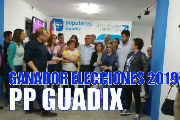 Primeras palabras de Jesús Lorente tras ser conocedor de su victoria y la del Partido Popular en estas elecciones municipales de Guadix 2019.