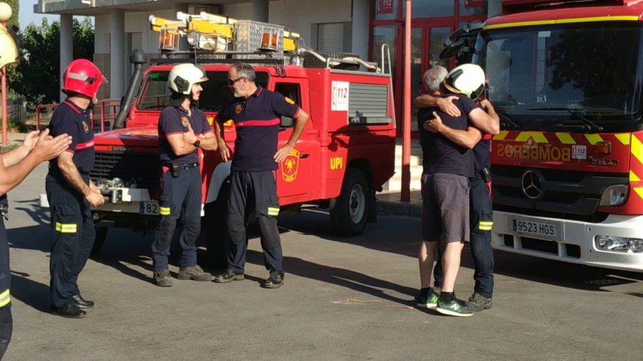 Homenaje al jefe de bomberos de Guadix