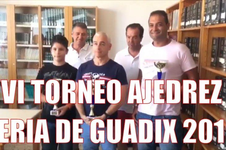 Torneo de ajedrez Feria de Guadix