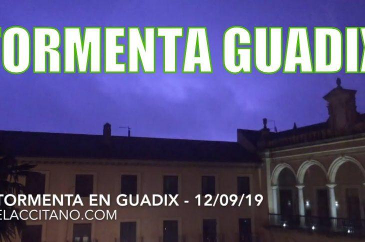 Tormenta en Guadix