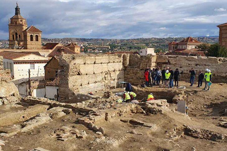 Alcazaba de Guadix en obras