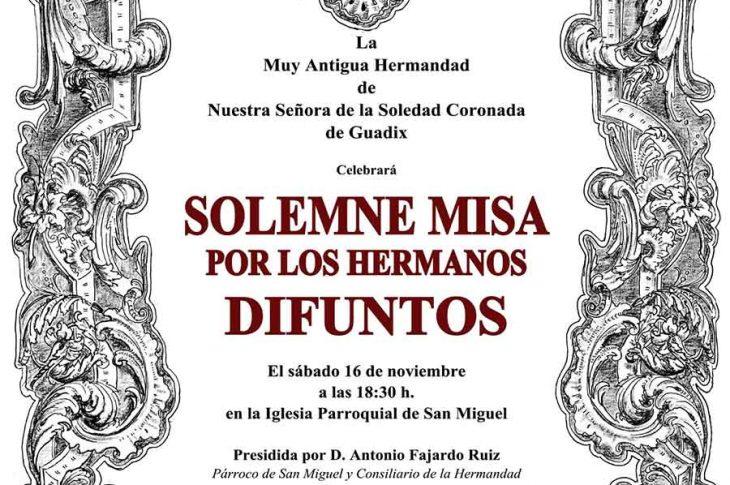 Misa hermanos difuntos de la Soledad Guadix