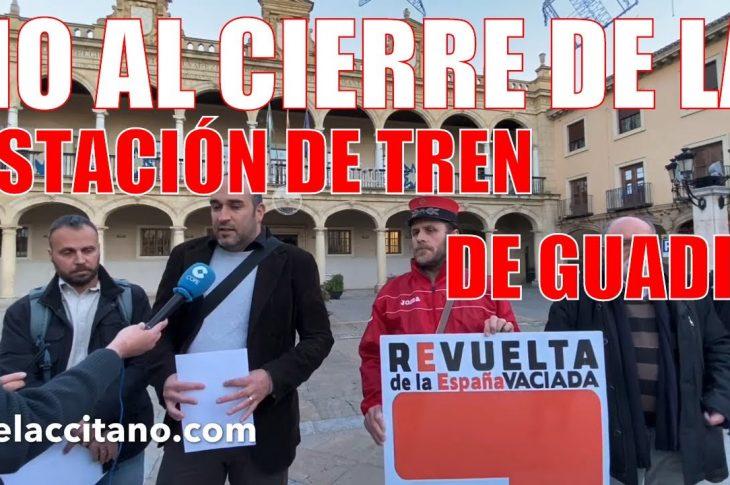 Comarca de Guadix por el Tren advierte del posible cierre de la estación de tren
