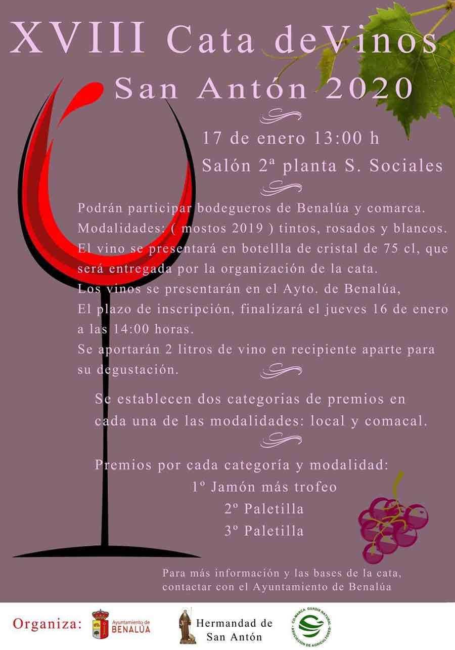 Cata de vinos San Antón 2020 en Benalúa