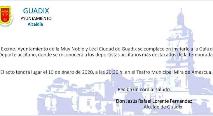 Gala del deporte Guadix