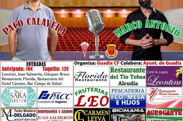 Monólogo de Paco Calavera y Marco Antonio Castaño en Guadix