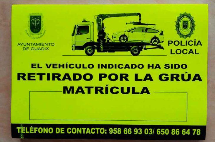 Retirada vehiculos Guadix