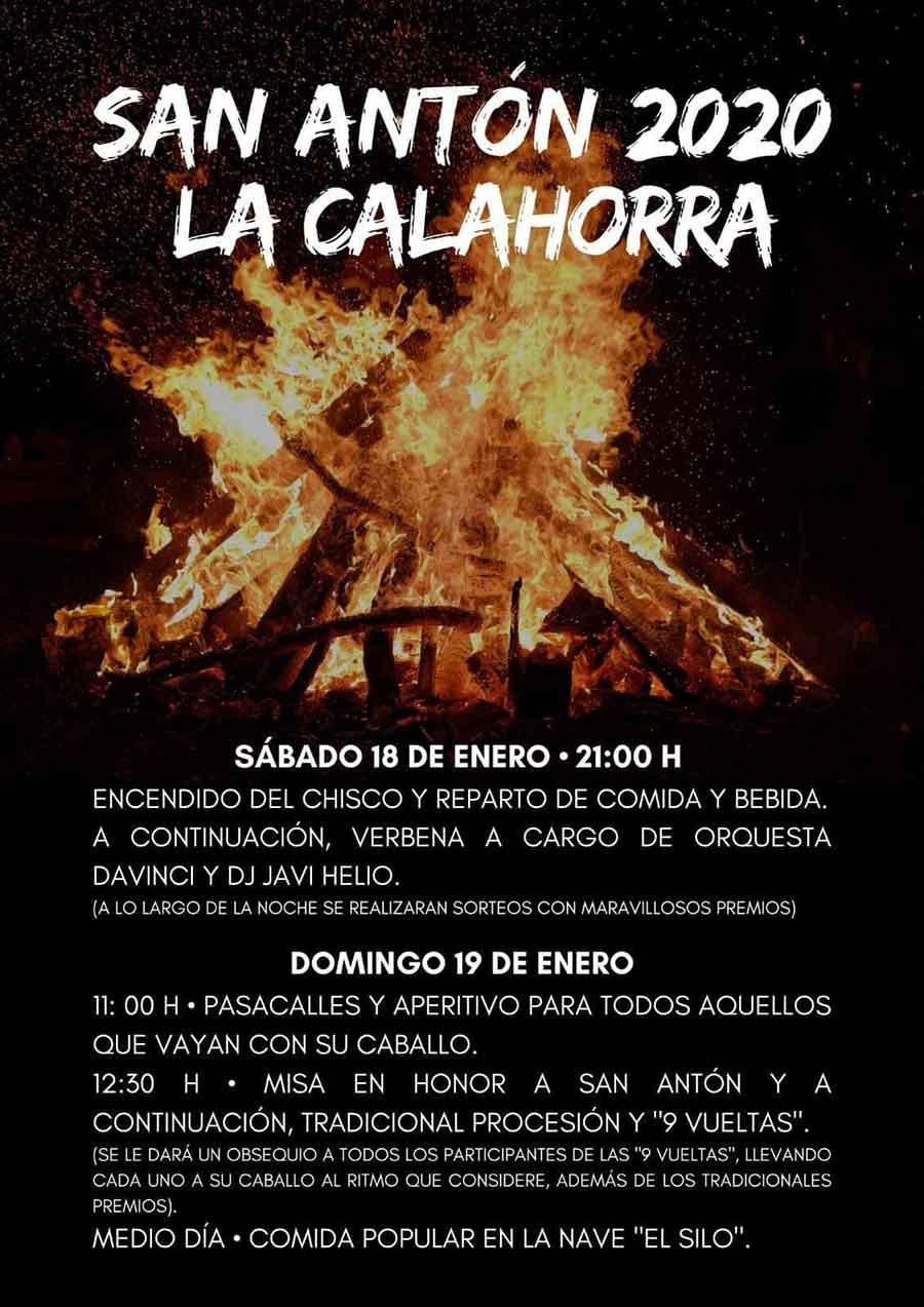 Fiesta de San Antón en La Calahorra