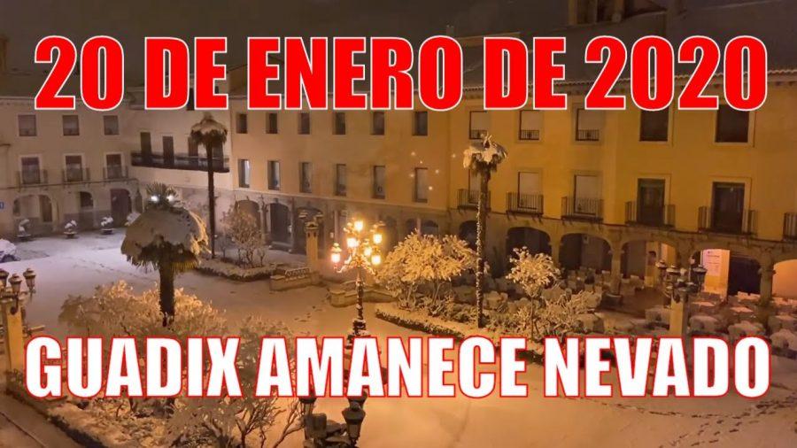 Guadix amanece nevado