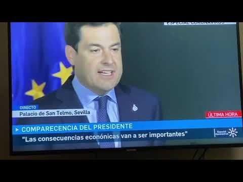 El presidente de la Junta de Andalucía anuncia la suspensión de las clases a partir del lunes 15 de marzo