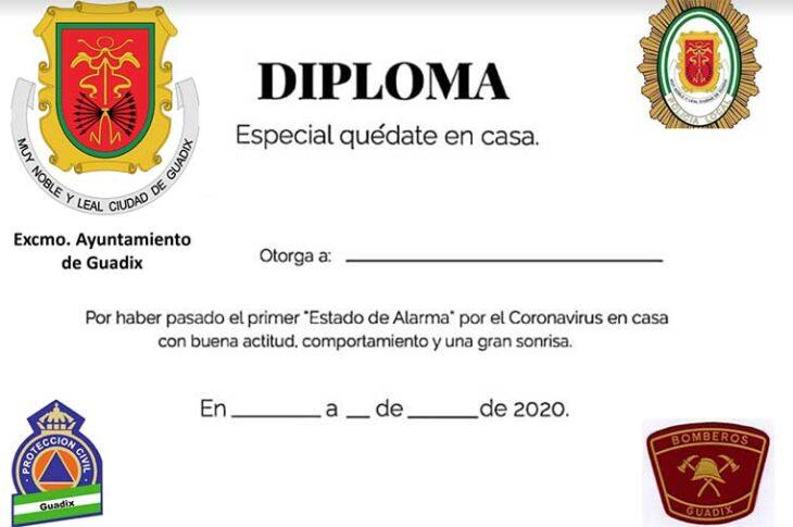 Diploma para niños en la pandemia