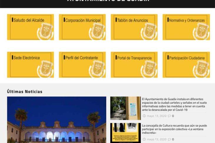 El Ayuntamiento de Guadix pone en marcha su nueva página web