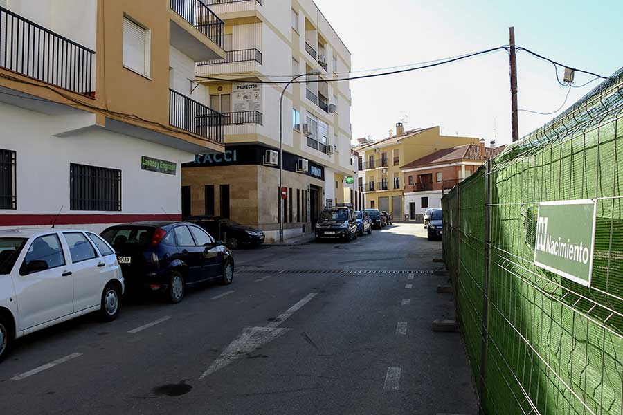 Calles cortadas en Guadix