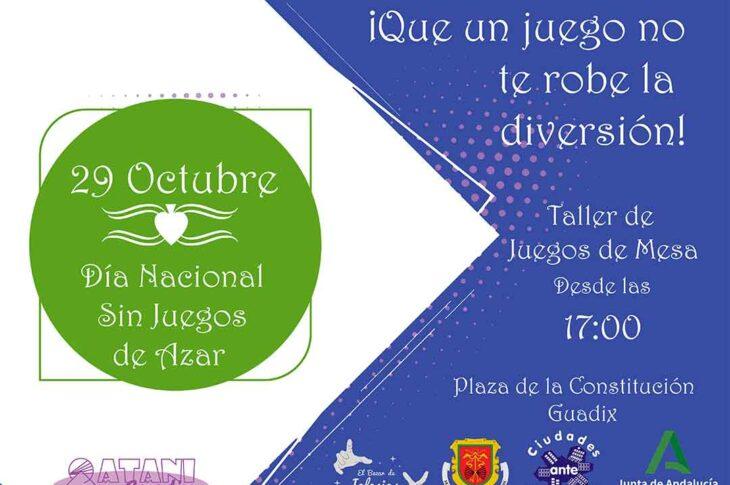 Día mundial sin juegos de azar en Guadix