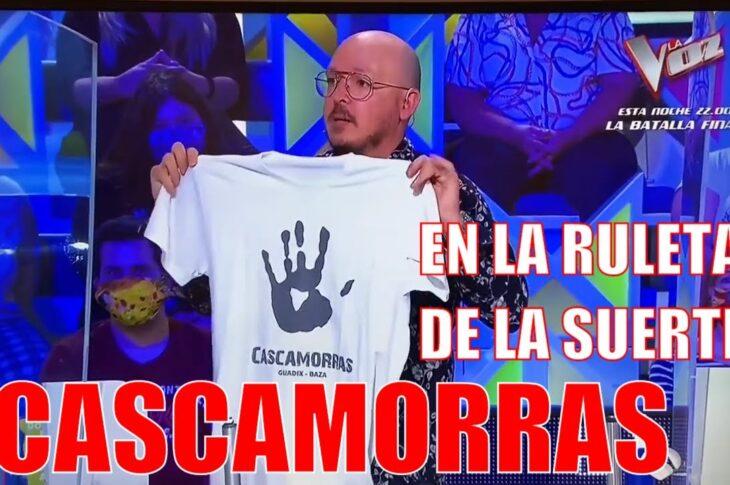 Cascamorras 2013 promocionando nuestra fiesta en la ruleta de la suerte de Antena 3