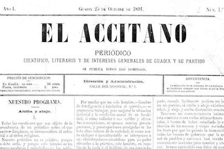 """Recopilación de artículos de """"El Accitano"""" de 1891 a 1910 por José Rivera Tubilla"""