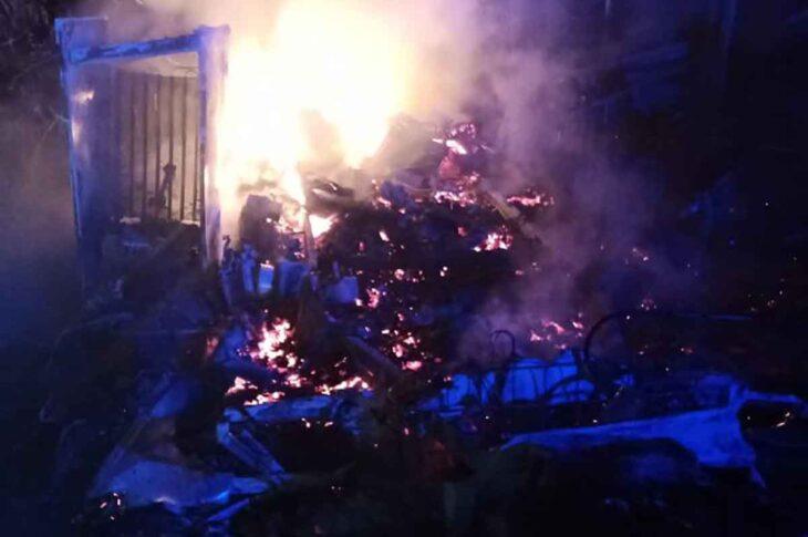 Incendio en remolque