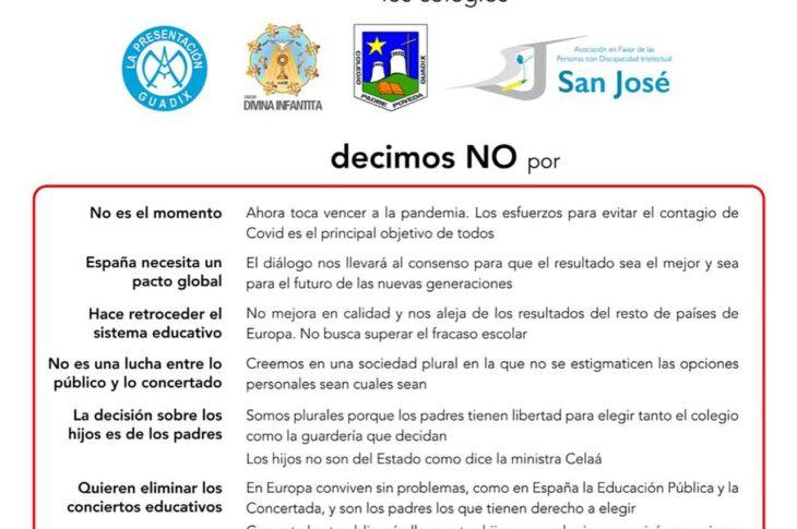 Stop Ley Celaá centros de Guadix