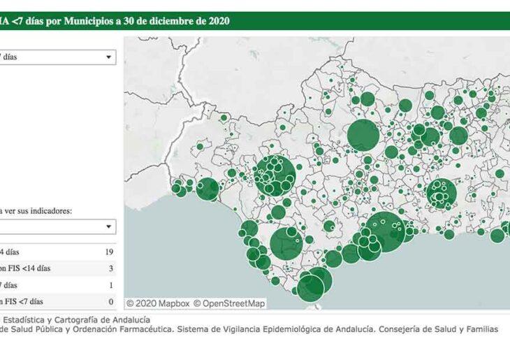 Casos covid Guadix a 30 de diciembre