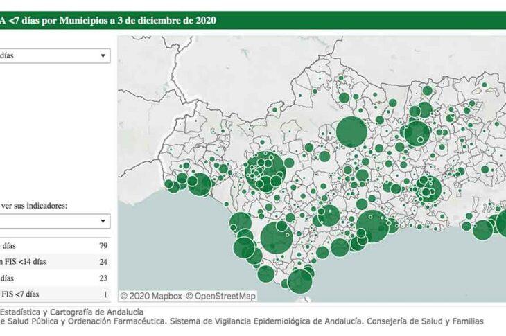 Casos covid en Guadix a 3 de diciembre