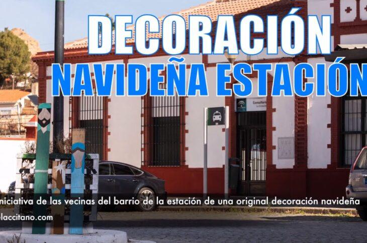 Iniciativa de las vecinas del barrio de la estación de una original decoración navideña