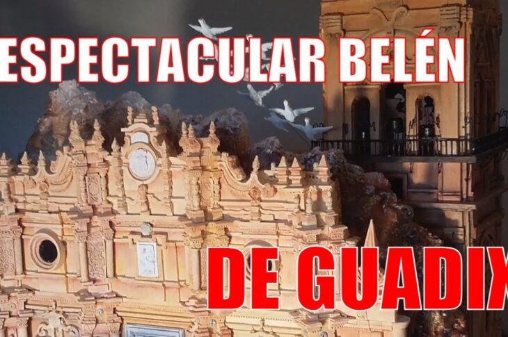 Belén con maquetas de monumentos de Guadix