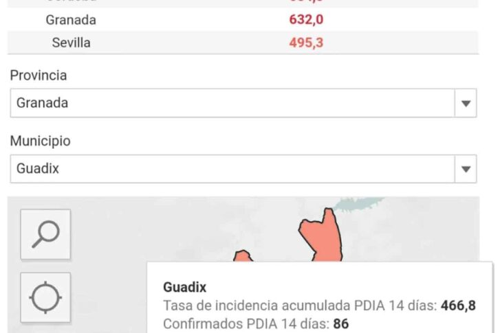 Guadix al borde de los 500 casos por cada 100.000 en esta tercera ola