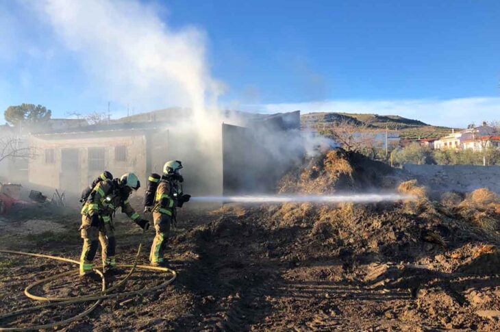 Incendio bomberos de Guadix