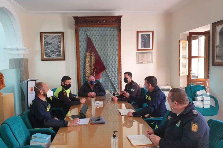 responsables de Policía Local, Bomberos y Protección Civil