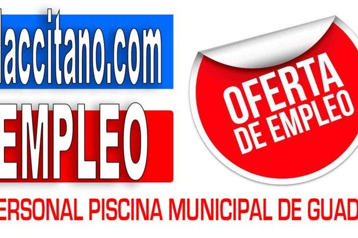 OFERTA de EMPLEO GUADIX - Se necesitan 3 socorristas y 1 portero/a para la piscina municipal