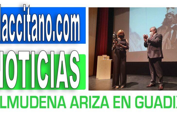 Almudena Ariza recoge el Premio Nacional de Periodismo Pedro Antonio de Alarcón de Guadix