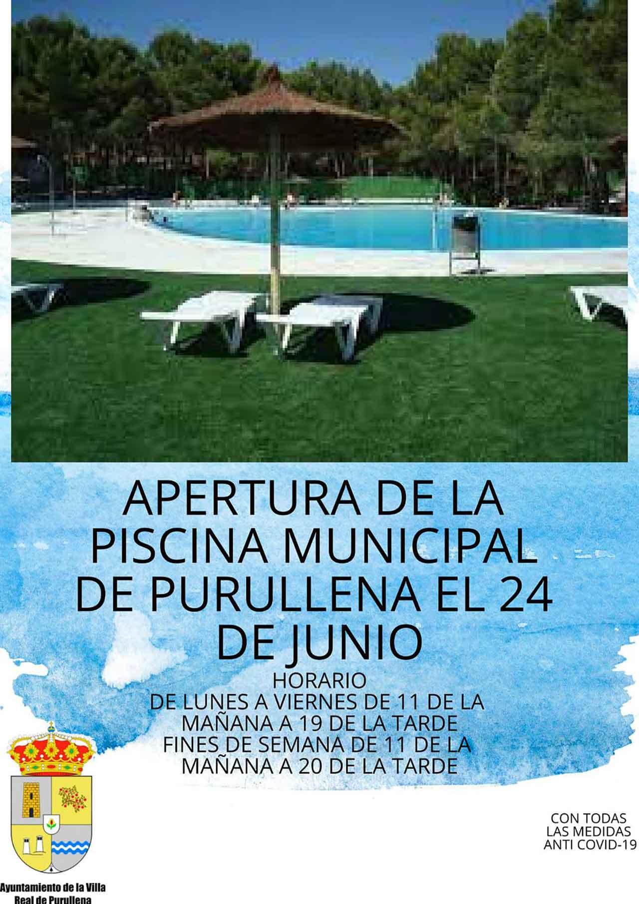 Horarios piscina de Purullena