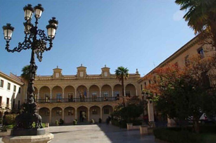 Plaza de las palomas de Guadix