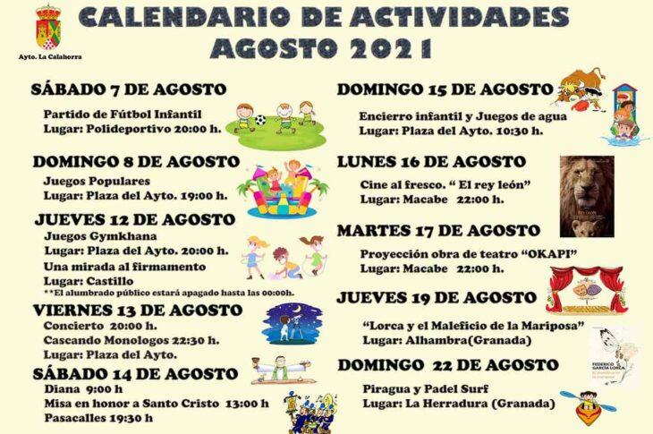Actividades en La Calahorra