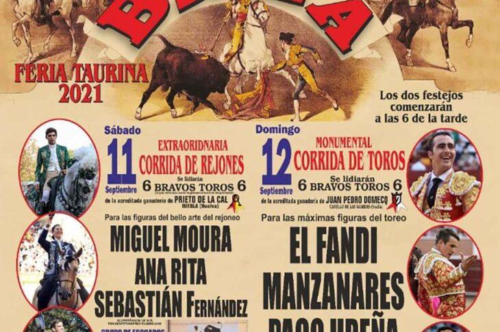 Cartel Feria taurina de Baza