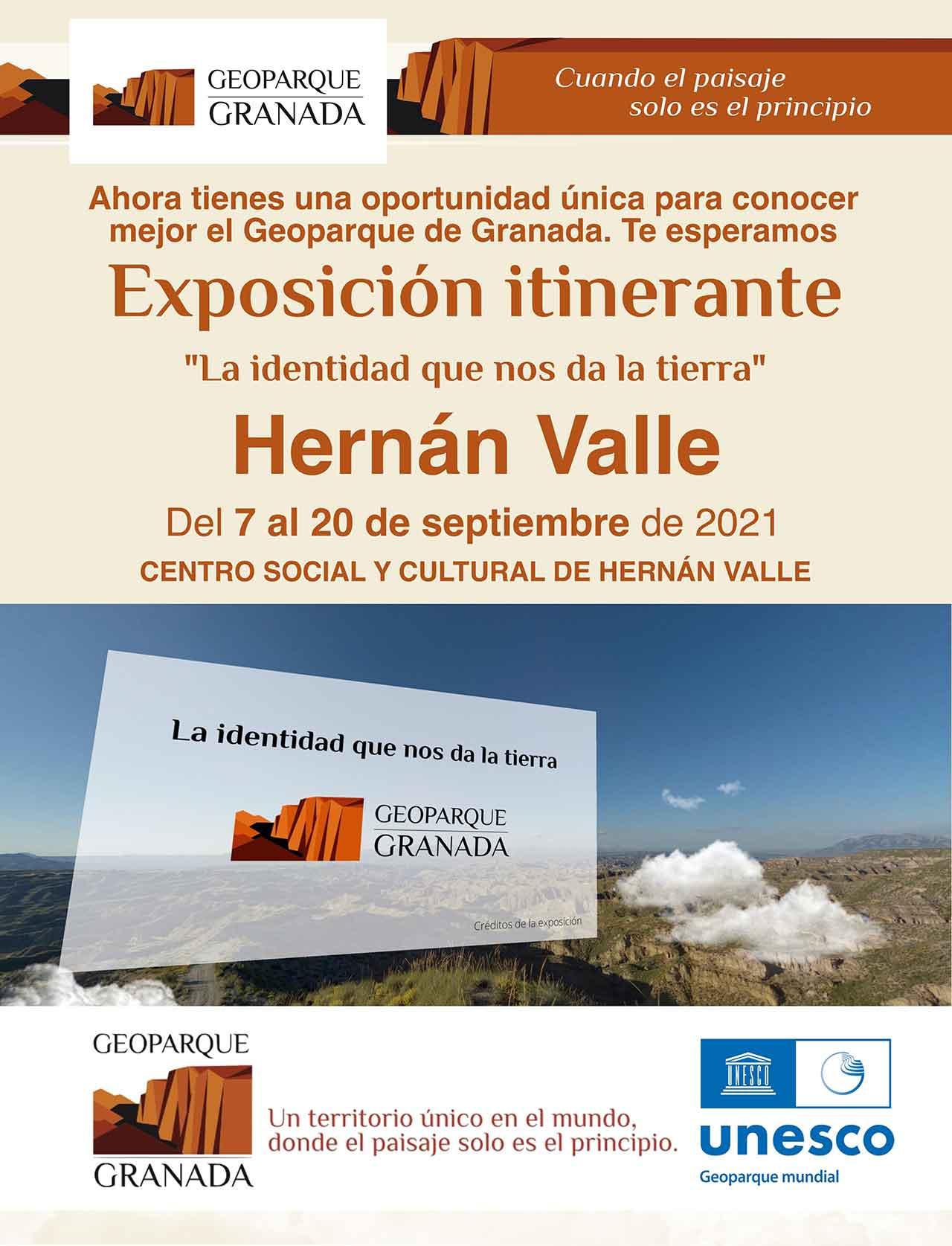 Geoparque exposición en el Hernán Valle