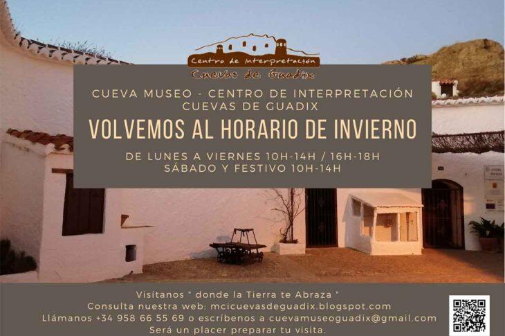 HORARIOS Cueva Museo Guadix