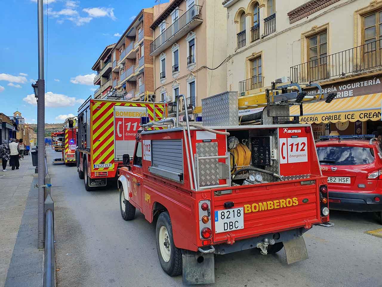 Incendio en Calle Baza de Guadix