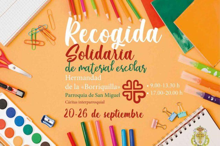 Recogida solidaria de la Hermandad de La Borriquilla