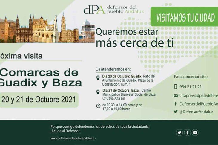 un equipo de la Oficina de Información y Atención ciudadana del Defensor del Pueblo Andaluz se desplazará a a nuestra ciudad