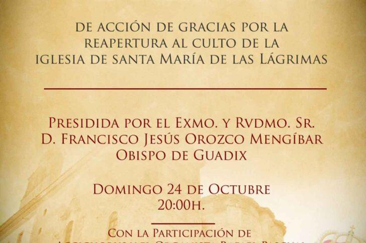 Eucaristía reapertura templo de Las Lágrimas