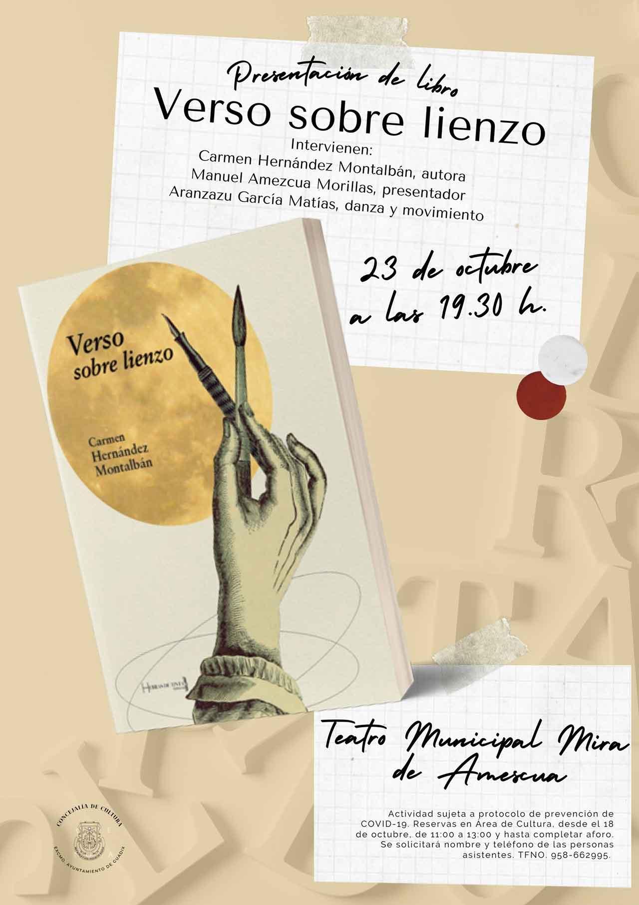 Presentación Verso sobre lienzo